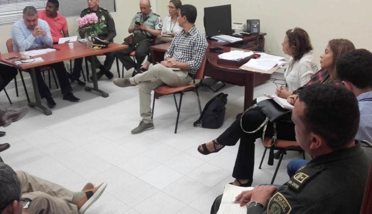 Aspectos de la reunión que se efectuó en la sede de la Procuraduría Regional de Sucre.
