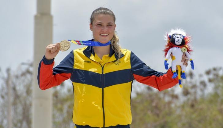 Gabriela Bolle ganó el oro en los Juegos Centroamericano y del Caribe Barranquilla 2018.