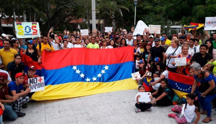 Concentración de venezolanos en el Parque Washington del 15 de Abril de 2017.