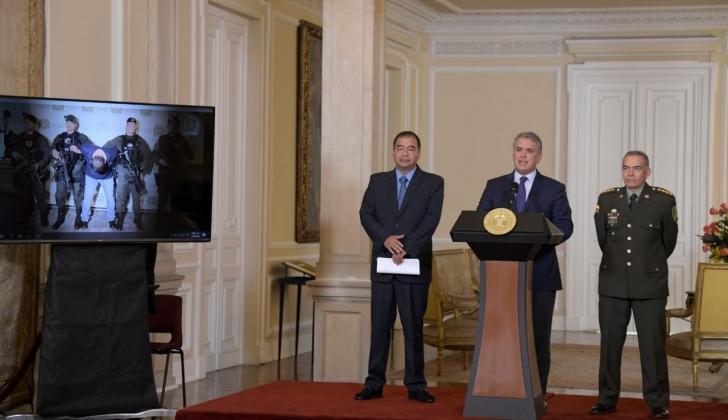 El presidente Iván Duque durante rueda de prensa.