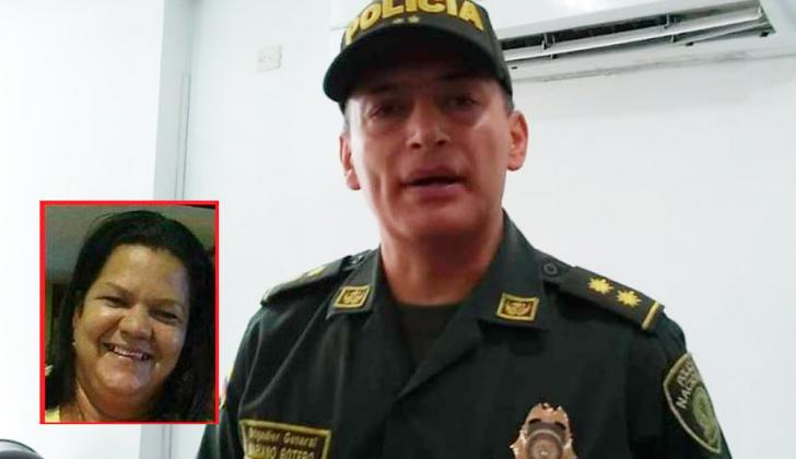 El brigadier general Mariano Botero Coy. En el recuadro, Rocío del Pilar Reguillo Avendaño.