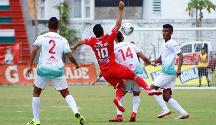 Acción del juego de ayer del Barranquilla FC.