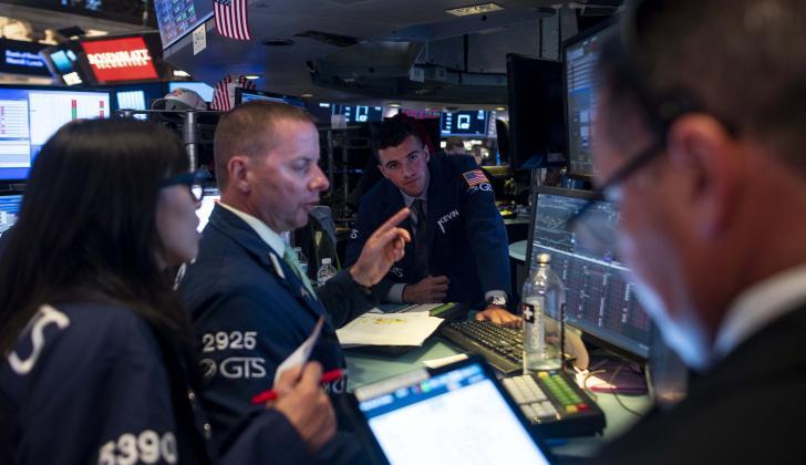 Comerciantes en la Bolsa de Nueva York