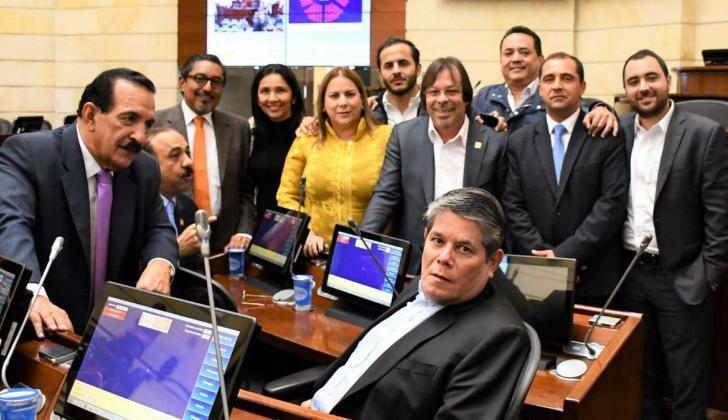 La Bancada Caribe se reunió el martes en el Congreso de la República.