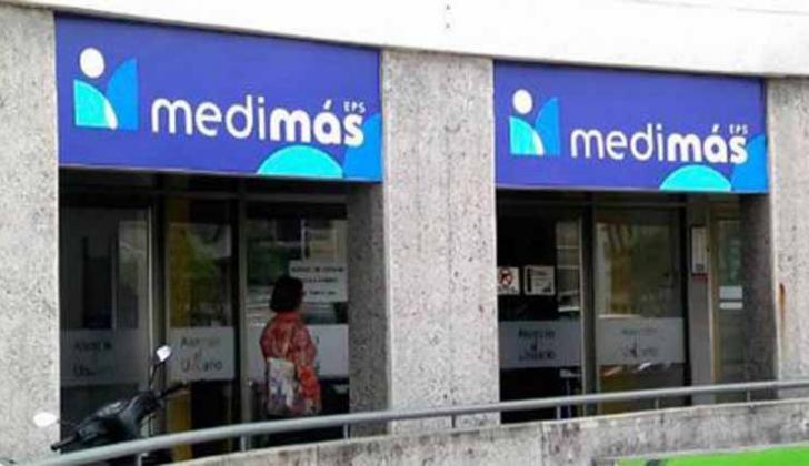 Una de las sedes de la sancionada EPS Medimás.