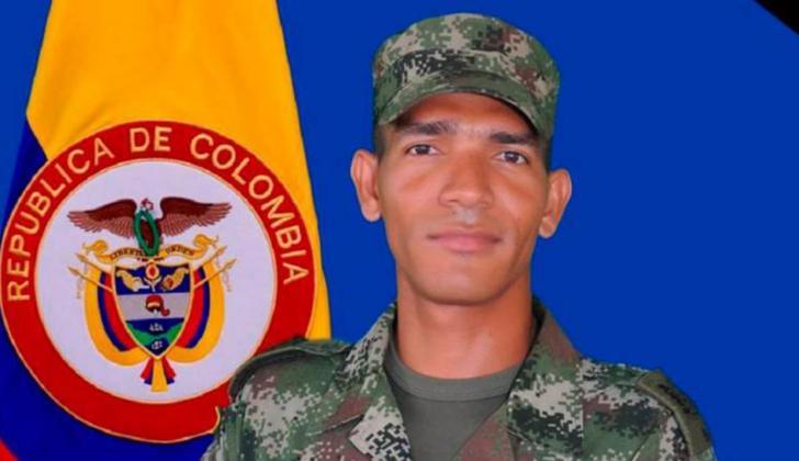 Soldado José López Rivera, muerto en Bolívar.