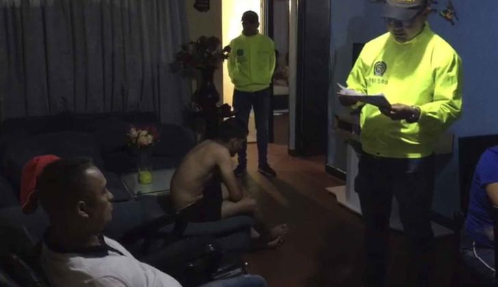 Franklin Javier González Luna al momento de su captura el pasado miércoles.