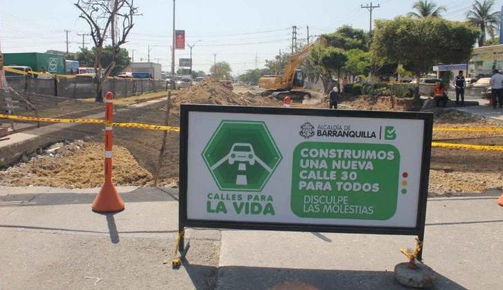 Trabajos de ampliación de la Calle 30.