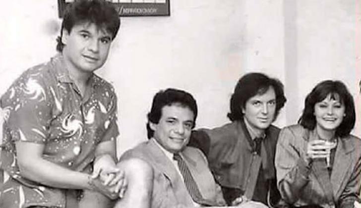 De izquierda a derecha: Juan Gabriel, José José, Camilo Sesto y Rocío Dúrcal.
