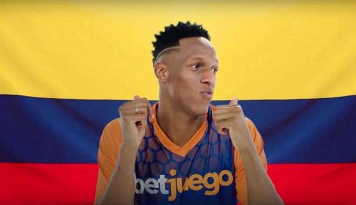 Yerry Mina, futbolista colombiano.