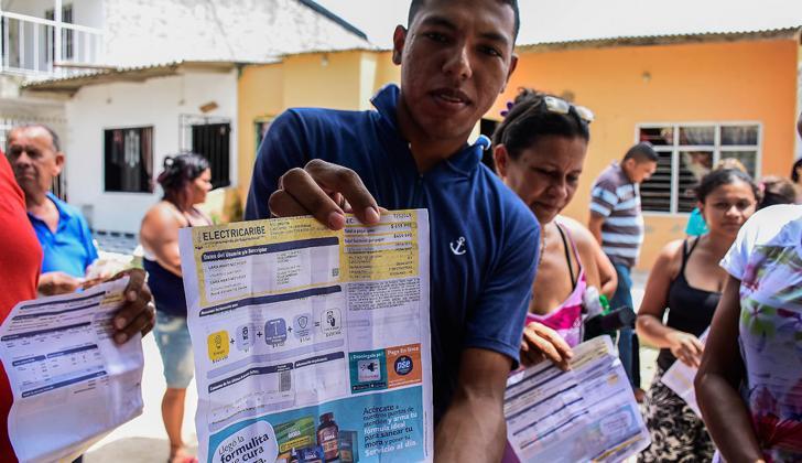 Un grupo de beneficiarios de los subsidios para el servicio de energía eléctrica en la Costa Caribe, los cuales llegan a estratos 1, 2 y 3.
