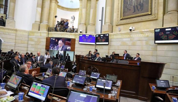 La plenaria del Senado.