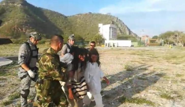 El Ejército evacuó a los heridos de Palmor.