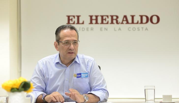 Ramón Rodríguez, director de la Unidad para las Víctimas, durante su visita a EL HERALDO.
