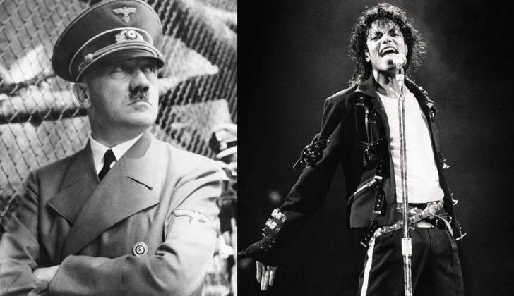 Adolf Hitler, máximo dirigente de la Alemania Nazi./ Michael Jackson, considerado 'rey del pop'.