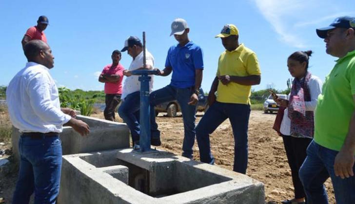 Entrega de las obras de saneamiento básico en corregimiento de Riohacha.