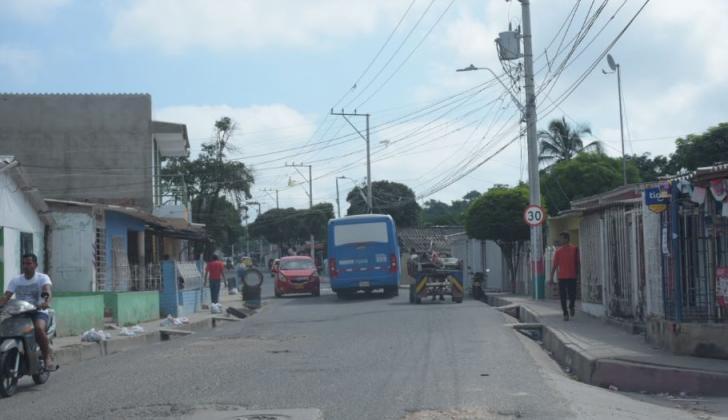 Sector del barrio El Bosque por donde ocurrieron los hechos.