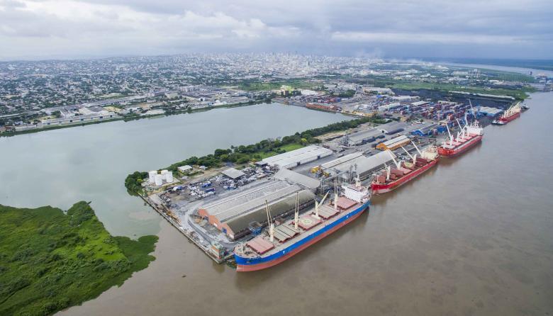 El puerto de Barranquilla