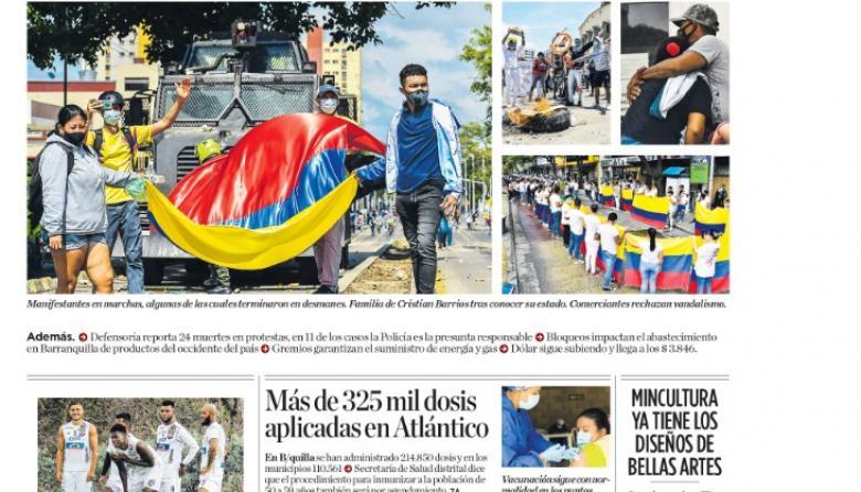 Barranquilla, jornada de contrastes