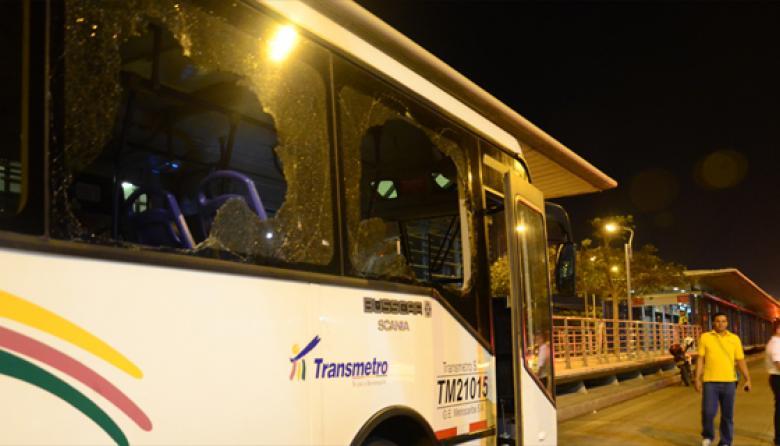Incidente en bus de Transmetro causó pánico
