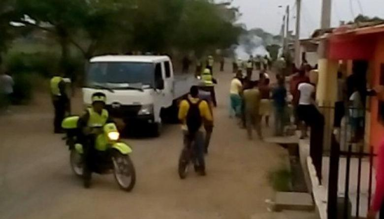 En disturbios en Montería dos menores resultan heridos a bala