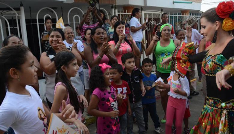 Angelitos celebraron con la reina Marcela
