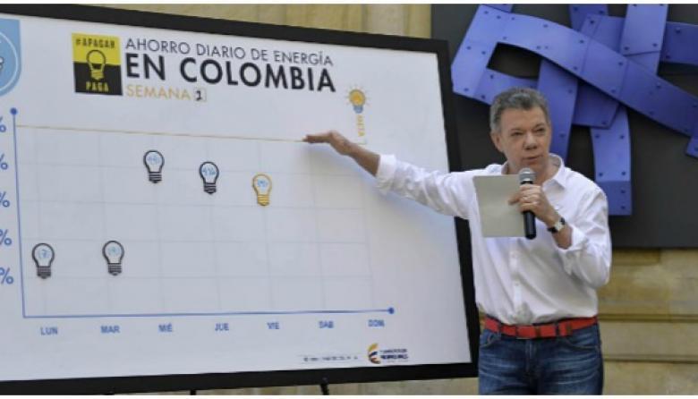 """""""Colombianos ahorraron el viernes el 3.91%"""": Santos"""