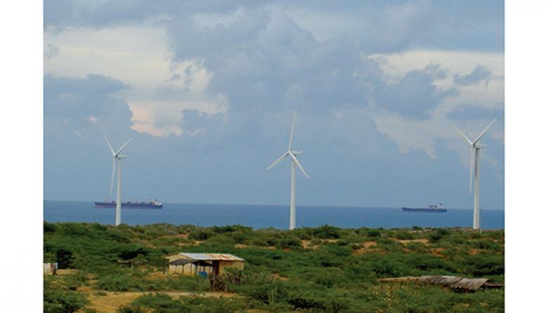 Vista del Parque eólico Jepírachi  que EPM de Medellín opera en La Guajira.