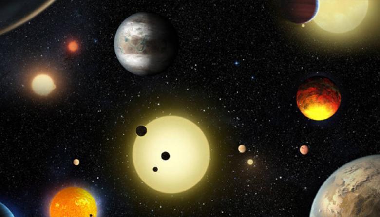 Ilustración de la Nasa para recrear los exoplanetas descubiertos.