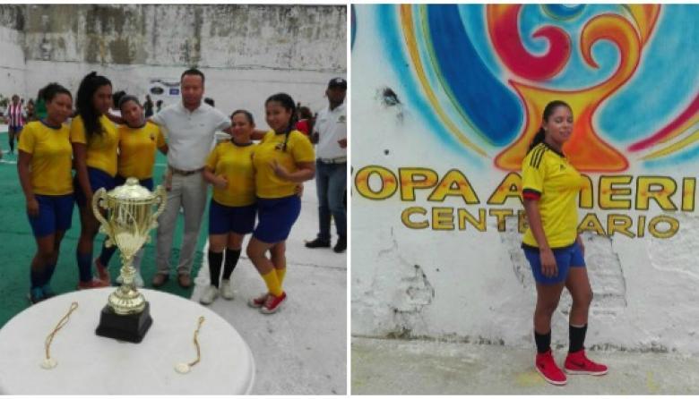 Las reclusas de la cárcel San Diego de Cartagena juegan su propia Copa América