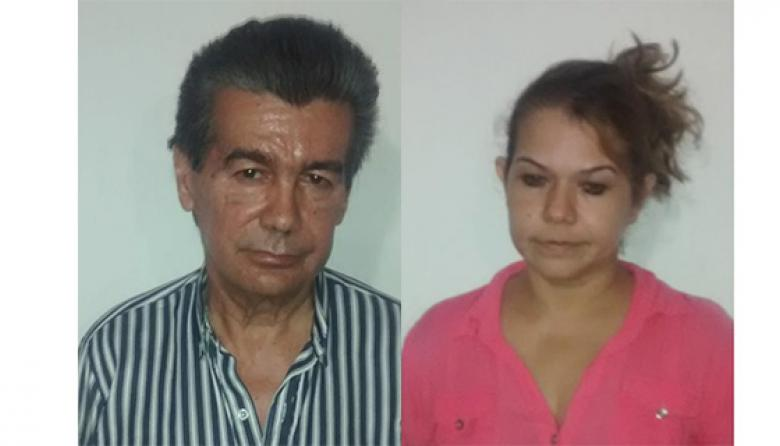 Ramiro José García Aljure y su compañera sentimental Ilda Rosa Carrascal Paternina.