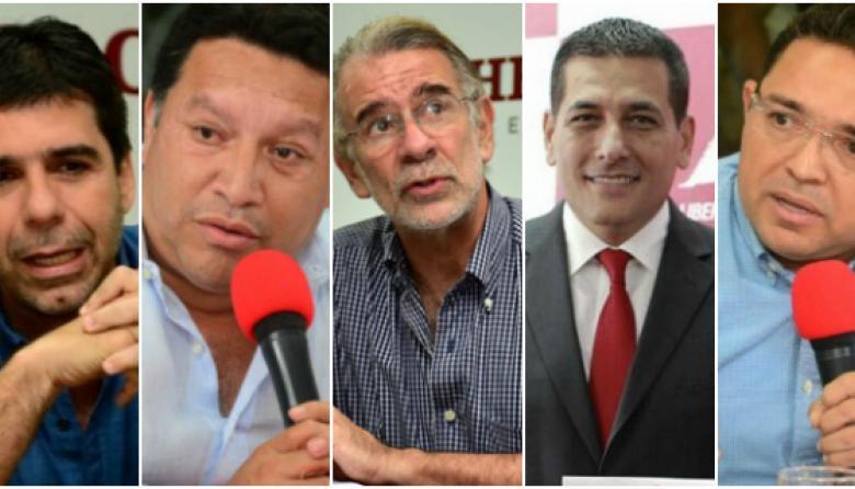 Alejandro Char, Manuel Duque, Eduardo Verano, Dumek Turbay y Rafael Martínez.