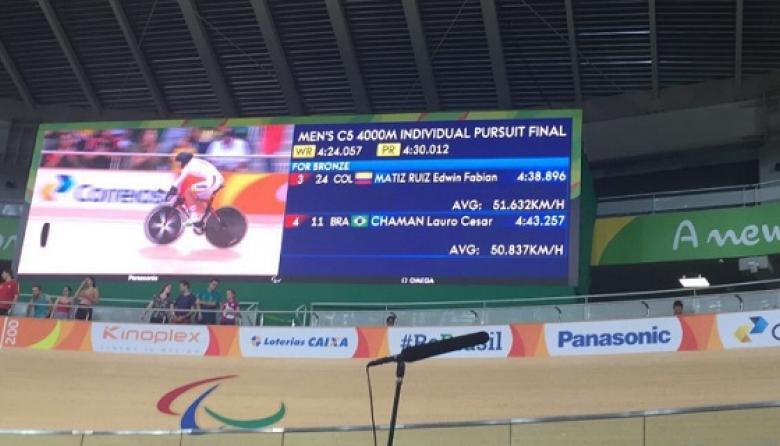 Edwin Matiz se lleva una medalla de bronce en ciclismo