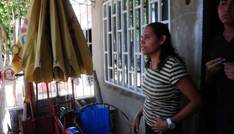 Griselda Rangel Hernández, esposa de la víctima.