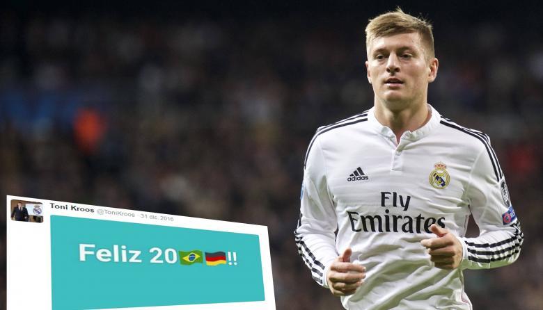 Ronaldo y Toni Kroos generan polémica en Twitter por felicitación de año nuevo