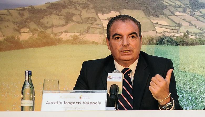 Aurelio Iragorri, ministro de Agricultura.