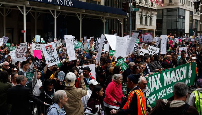 En ciudades como Nueva York hubo concentraciones masivas.