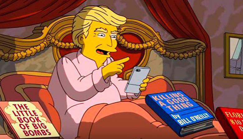 """""""Los Simpsons"""" se burlan de Trump en episodio sobre 100 días de gobierno"""