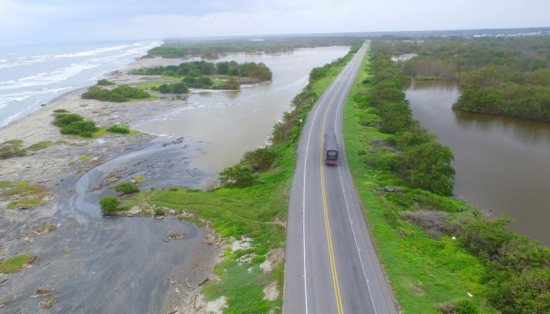 Imagen aérea del kilómetro 19 de la vía.