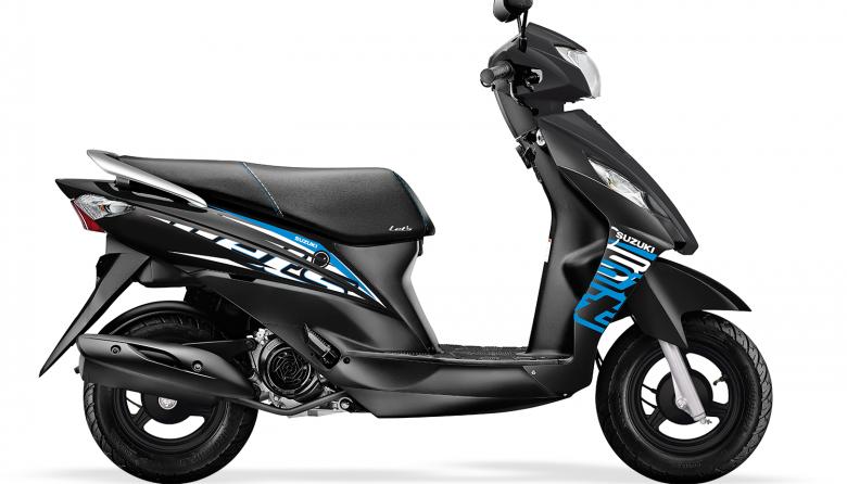 Las medidas de la Suzuki Lets son: 160mm de distancia del piso, un ancho de 655 mm y 1.250 mm entre ejes.