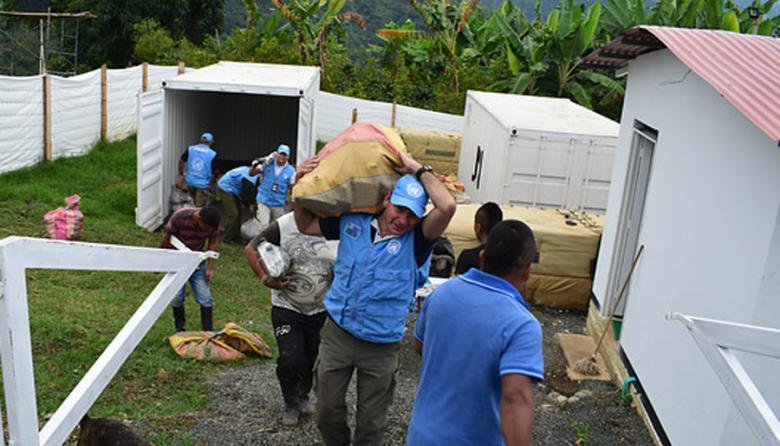 La Misión de la ONU en Colombia, que participa en el Mecanismo de Monitoreo y Verificación para el desarme de las Farc.