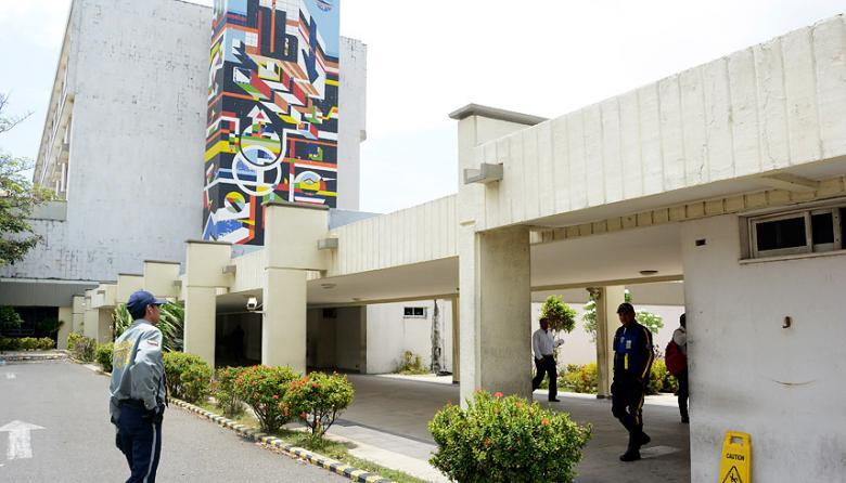 Fachada del Hospital Universitario Cari ESE de Alta Complejidad.