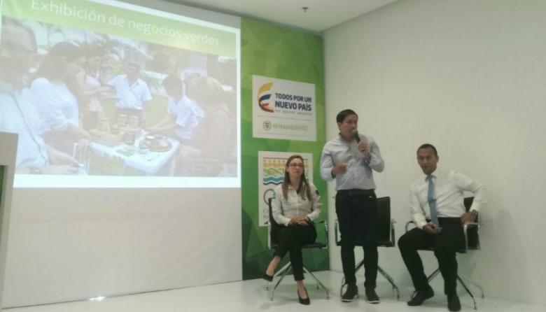 Alberto Escolar, director de la CRA, hace su intervención en el lanzamiento de Bioexpo Colombia 2017