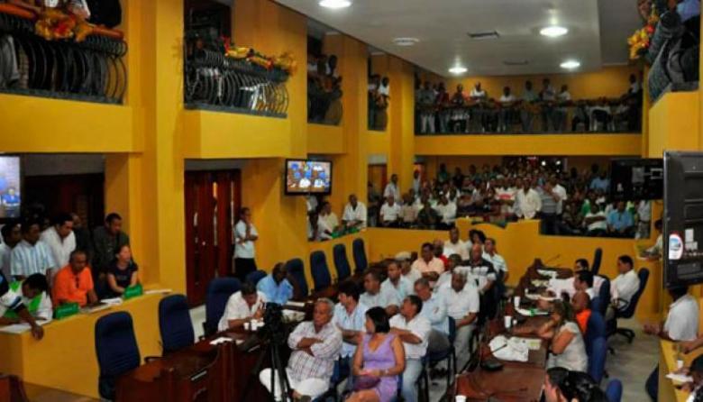 Aspectos de un debate en el Concejo de Cartagena.