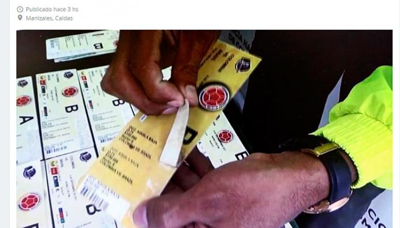 Desde $400.000 revenden boletas del partido de Colombia en internet