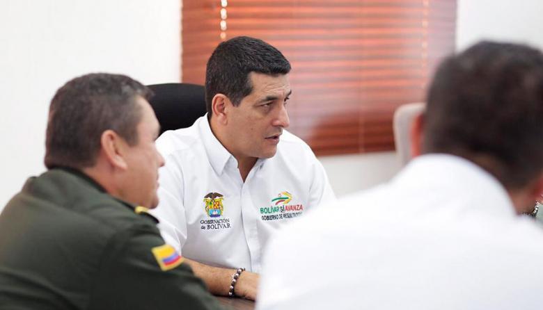 El gobernador de Bolívar, Dumek Turbay Paz.