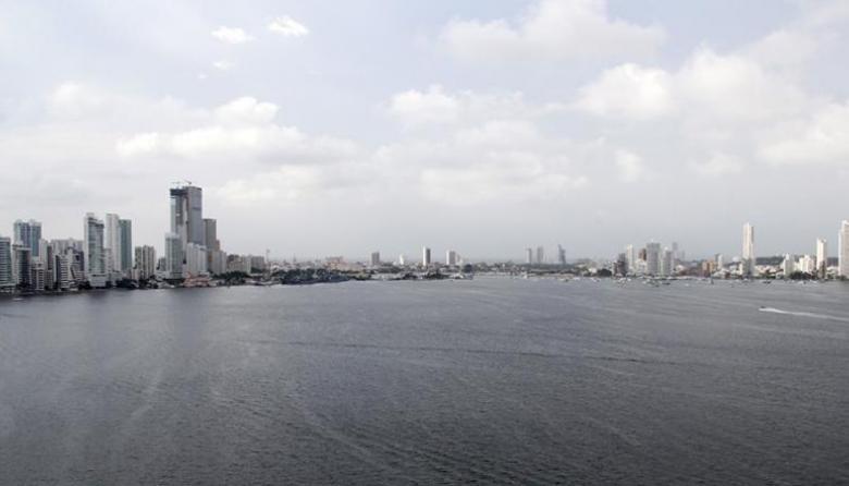 Vista panorámica de la bahía de Cartagena.
