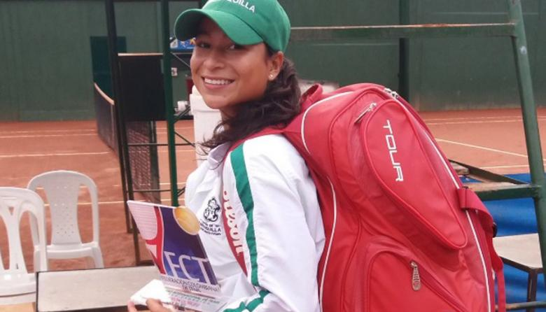 La tenista barranquillera María Fernanda Herazo.