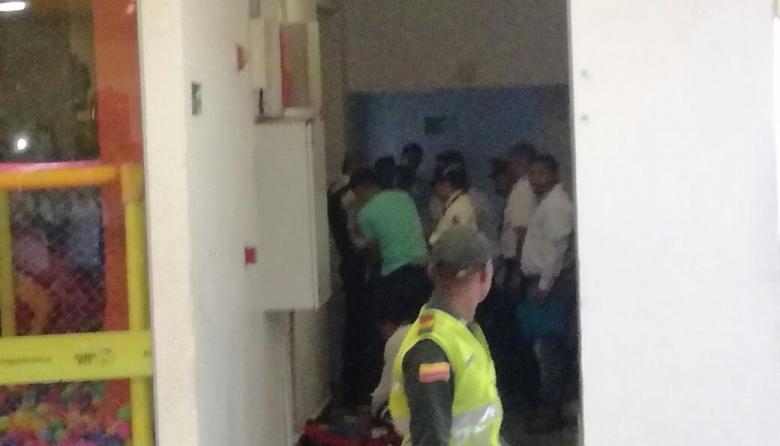 Balacera en centro comercial de Soledad: dos heridos