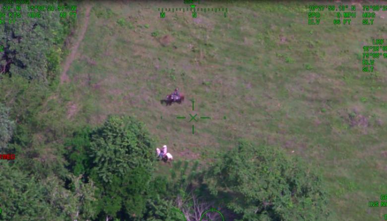 Imagen tomada desde el helicóptero 'Halcón'.